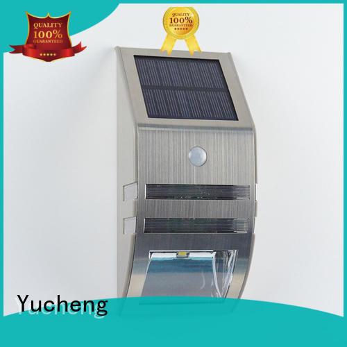 Yucheng waterproof solar garage lights series for garden