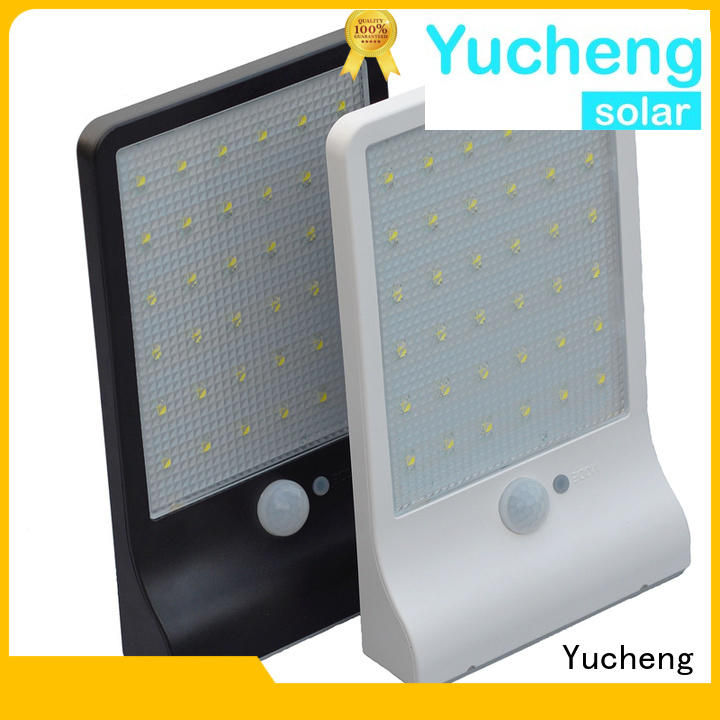 Quality Yucheng Brand mounting outdoor solar powered sensor light