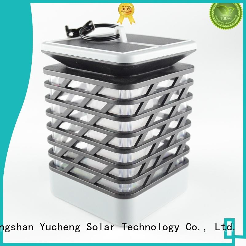 square solar flame torch factory direct supply for park