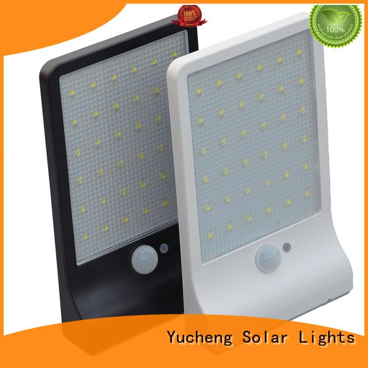 Yucheng solar motion sensor light customized for garden