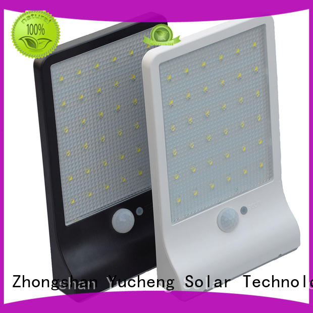 Yucheng durable solar powered security lights with motion sensor for garden
