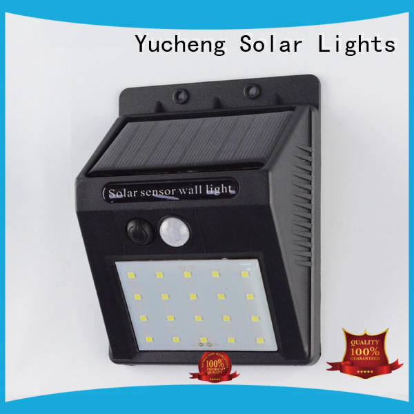 Yucheng reliable outdoor solar wall lights supplier for garden
