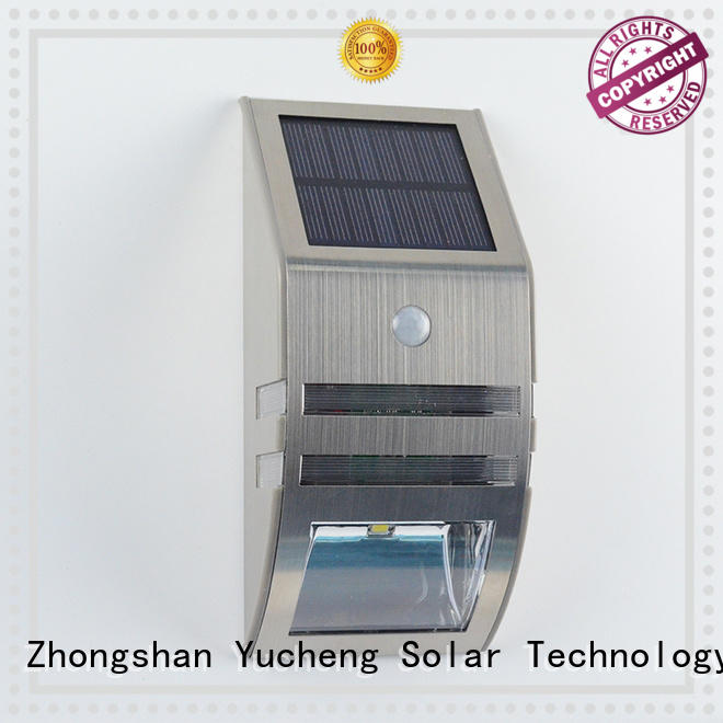 solar wall light with motion sensor with 37 LEDs for pathway Yucheng