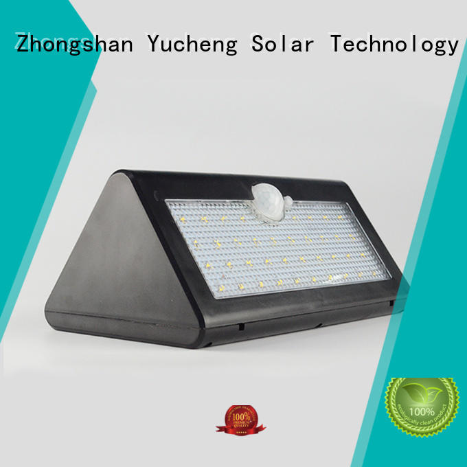 Wholesale wall outside solar wall lights with motion sensor powered Yucheng Brand