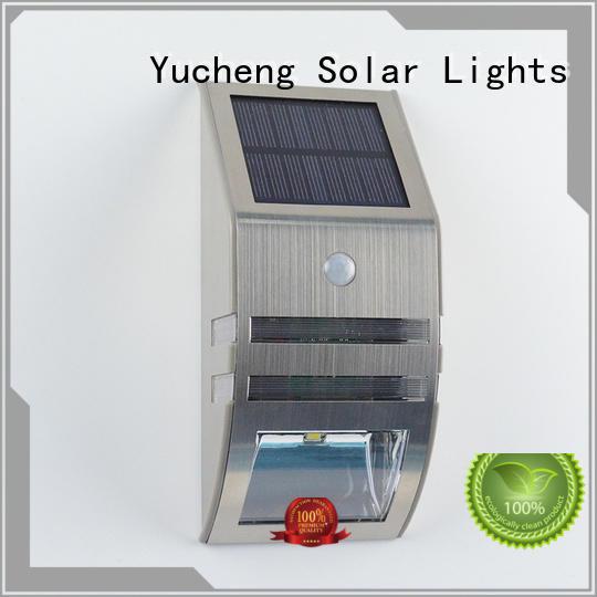 Yucheng solar powered security lights series for garden