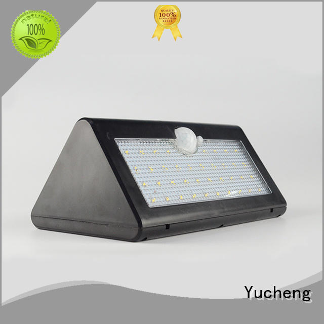 Quality Yucheng Brand outside solar wall lights with motion sensor square ultra