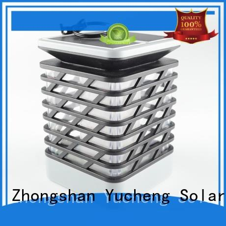 Yucheng square solar flame light supplier for courtyards