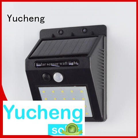 Yucheng Brand ultra outside solar wall lights with motion sensor powered supplier