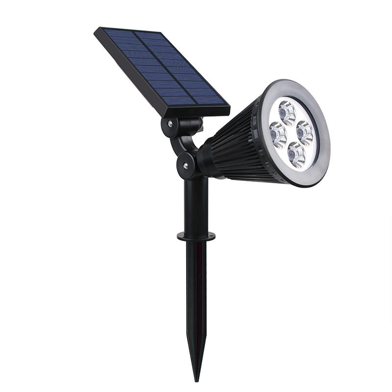 Solar  Adjustable Landscape Spotlight<br>Waterproof 4 LEDS Item No.: SW6064