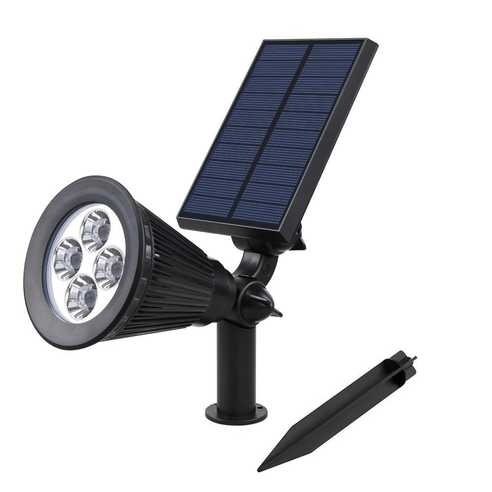 Solar  Adjustable Landscape Spotlight<br>Waterproof 4 LEDS Item No.: SW6064