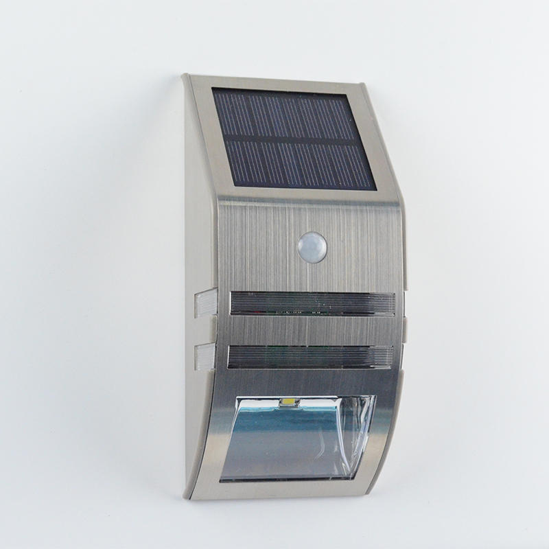 Solar LED Wall Light With Motion Detector,Steel  Item No.: SW6060-PIR