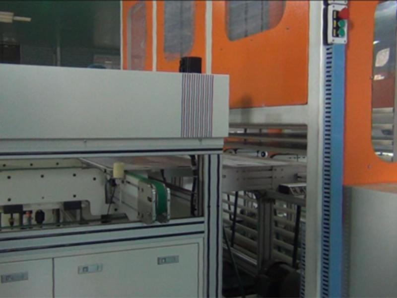 Process flow chart of solar module production line