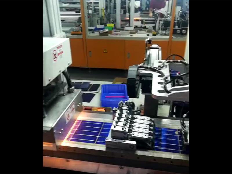 Fully automatic solar photovoltaic module production line