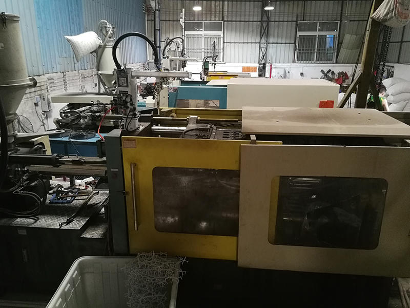 Three injection molding machines