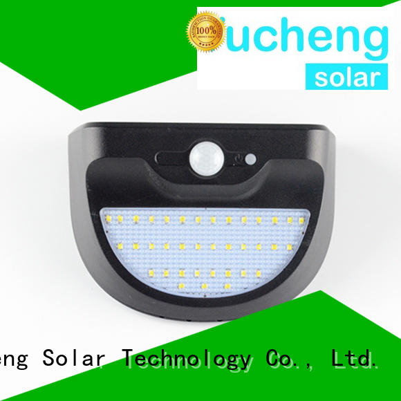 steel security motion Yucheng Brand outside solar wall lights with motion sensor factory