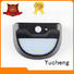 Yucheng Brand item steel outside solar wall lights with motion sensor semicircular