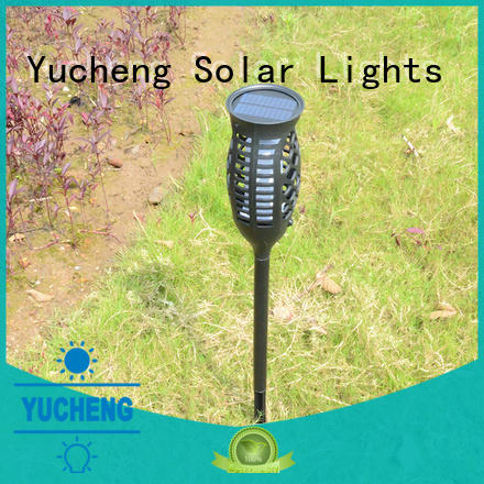 convenient solar flame torch customized for park