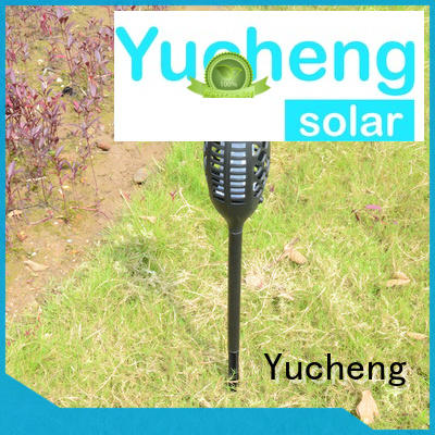 Yucheng solar powered flame lights factory direct supply for courtyards