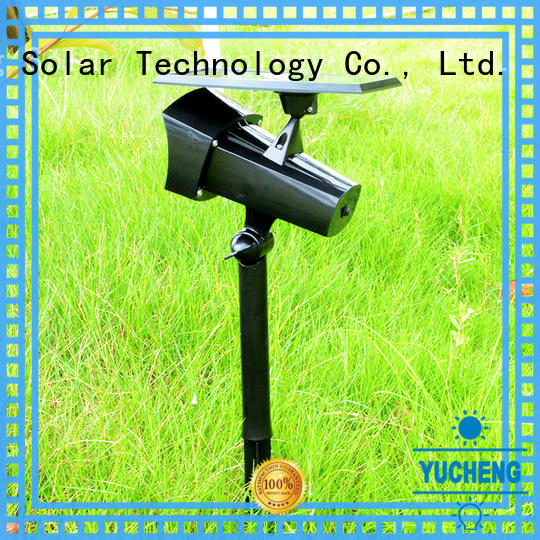 Yucheng solar spotlights factory direct supply for wall