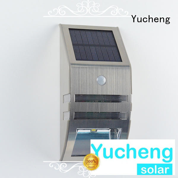 security steel leds OEM solar powered sensor light Yucheng