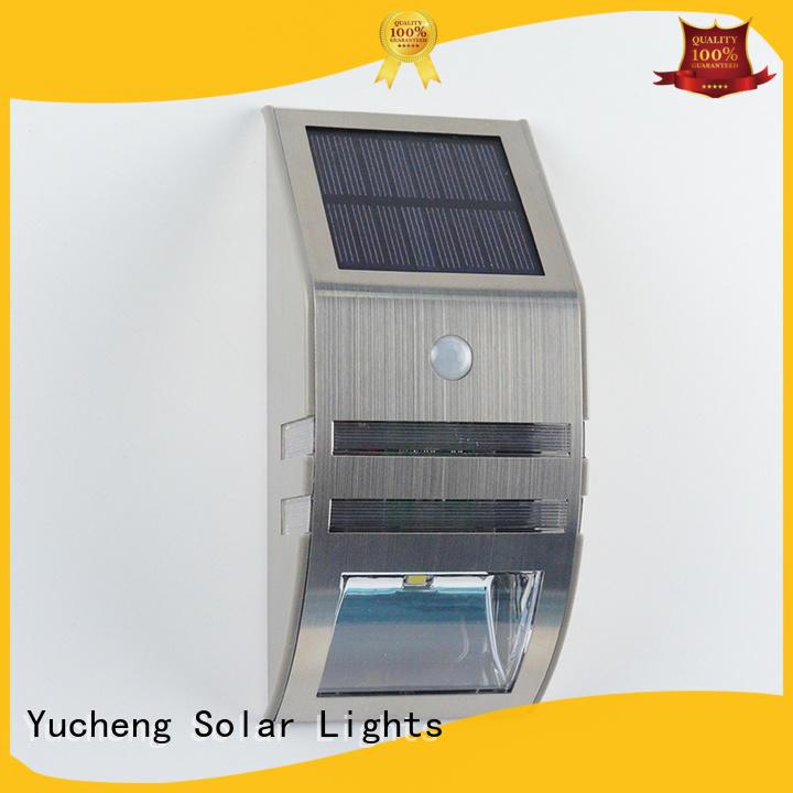 Yucheng wireless solar motion sensor light customized for docks