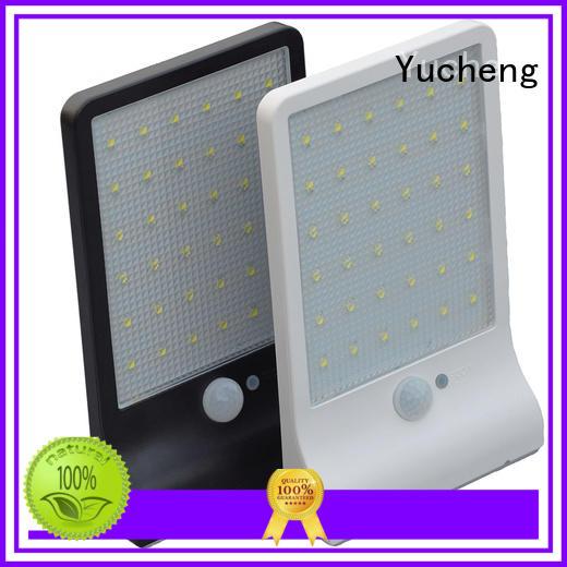 security motion powered solar powered sensor light wall Yucheng