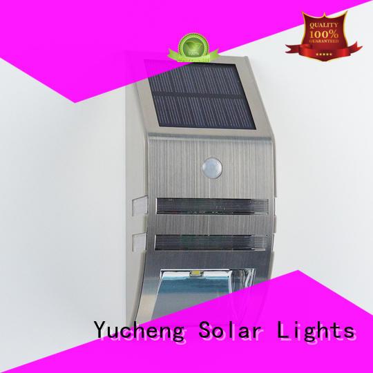 Yucheng solar sensor wall light customized for docks