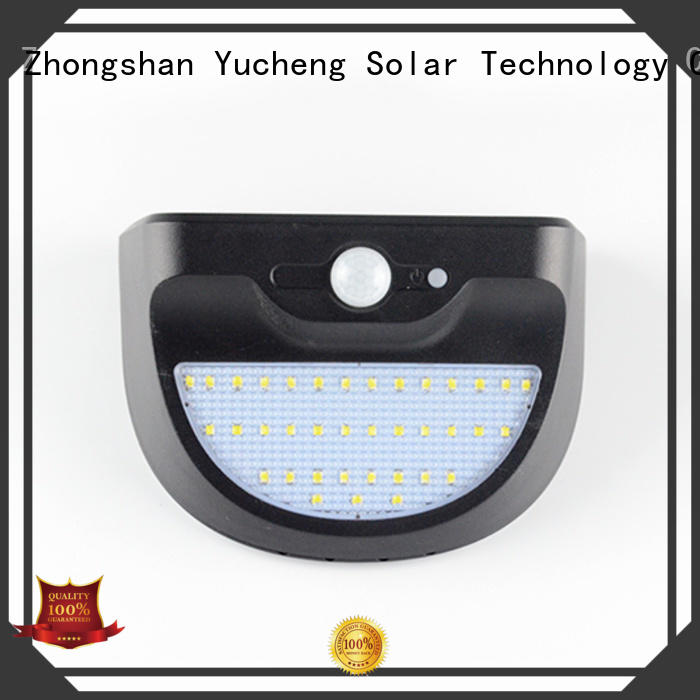 Yucheng solar powered security lights wholesale for pathway
