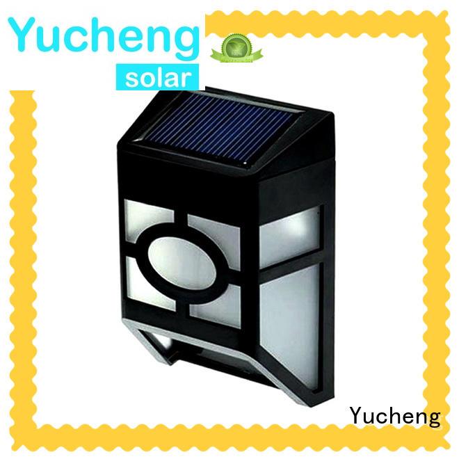 Yucheng solar garden fence lights supplier for outdoor