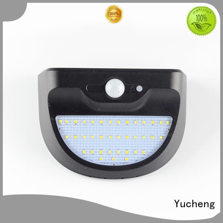 Yucheng Brand detector powered wall outside solar wall lights with motion sensor