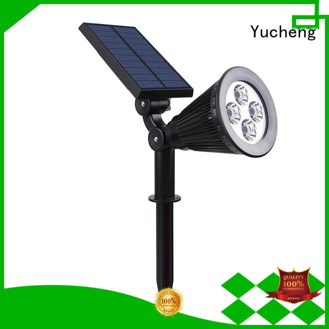 Yucheng Brand spotlight powered solar led garden lights adjustment factory
