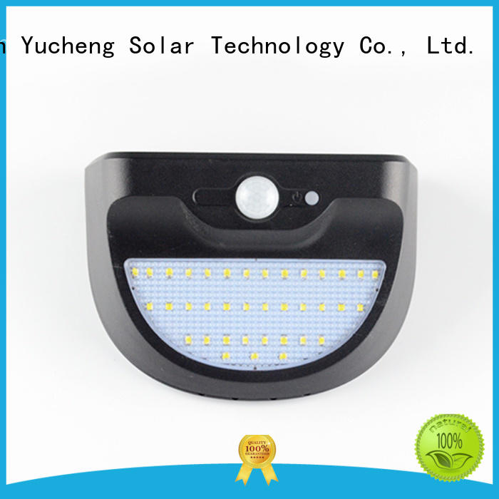 Yucheng outside solar wall lights with motion sensor supplier for garden