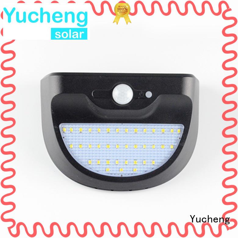 Yucheng solar led motion sensor light wholesale for garden