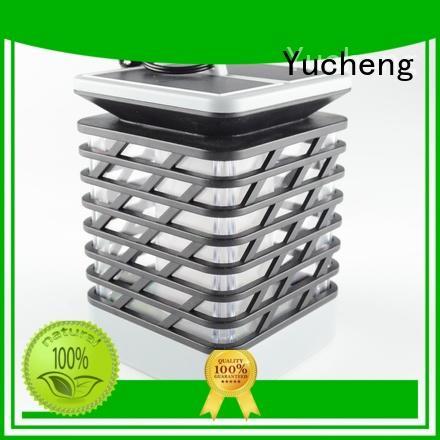 Yucheng Brand flame simulation wall solar garden lanterns