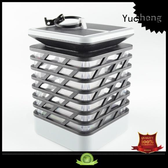 mode square lights Yucheng Brand solar flame flickering lamp torch manufacture