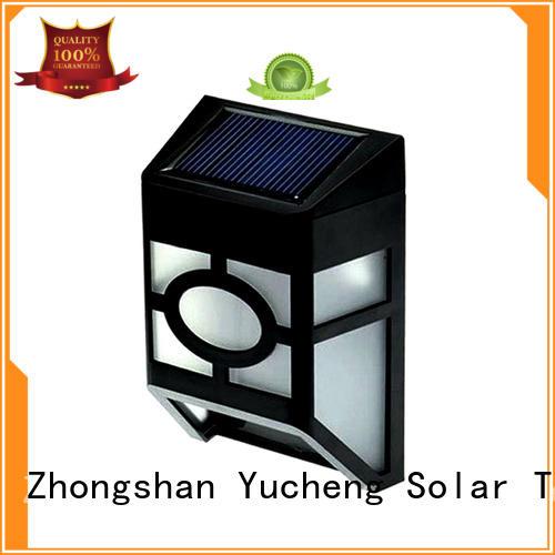 Yucheng solar fence lights manufacturer for home