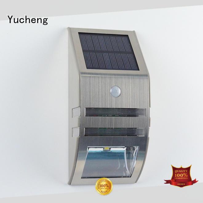 Yucheng square solar sensor lights outdoor manufacturer for pathway