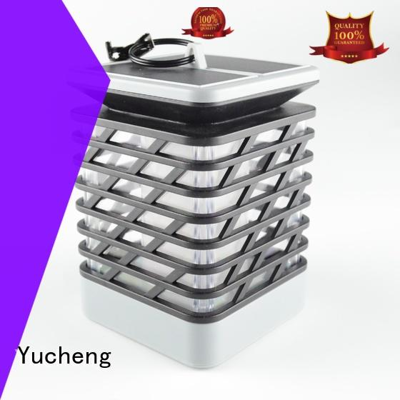 Yucheng lantern solar powered flame lights supplier for courtyards