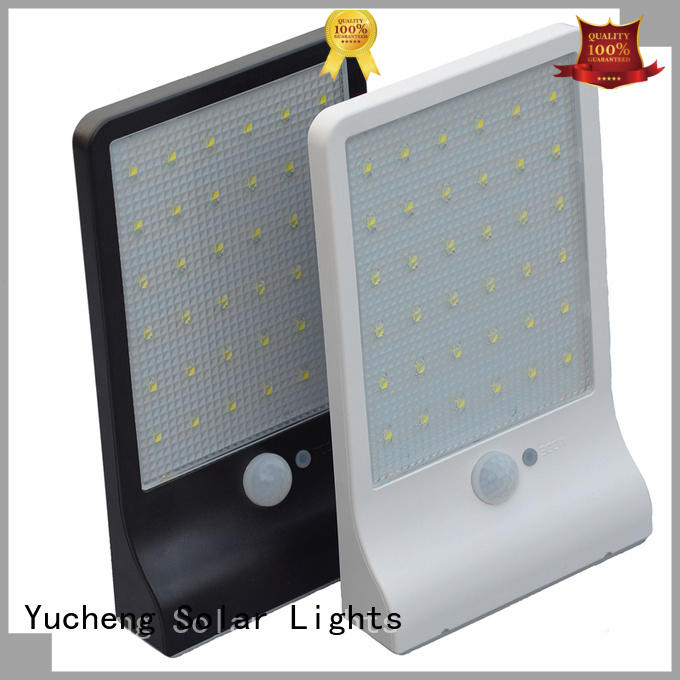 Yucheng solar outside wall lights manufacturer for pathway