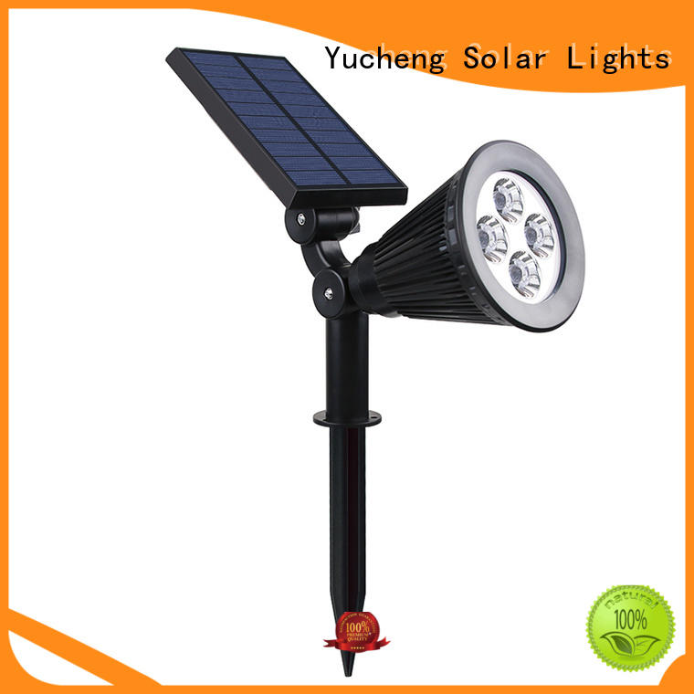 intelligent control solar spotlight with 48 LEDs for home Yucheng