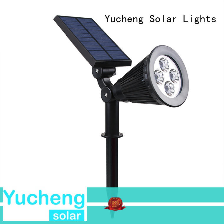 Yucheng vacuum plating solar powered spotlights factory direct supply for garden