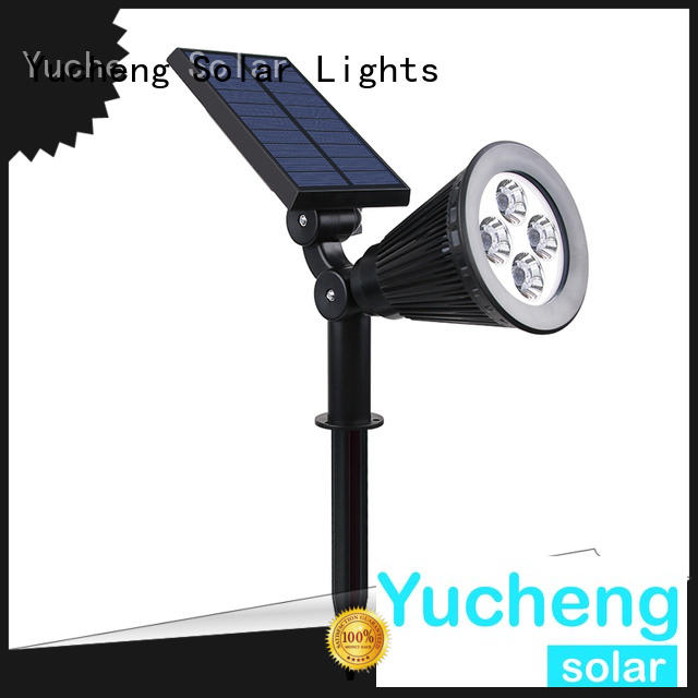 Yucheng durable solar powered spotlights factory direct supply for wall