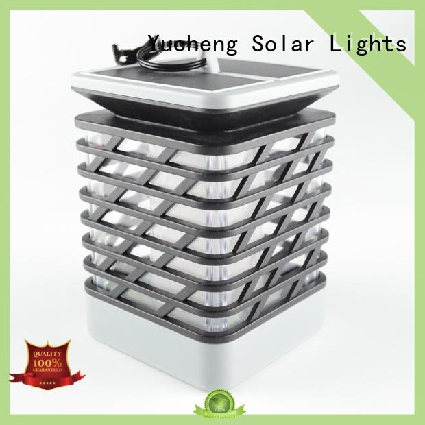 Yucheng popular solar flame light supplier for courtyards
