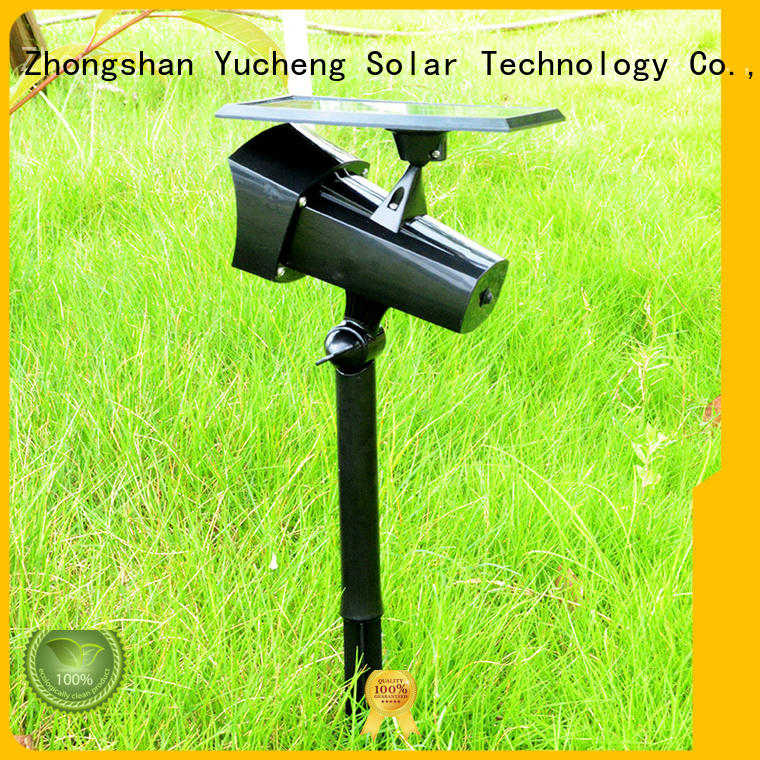 Yucheng Brand larger powered led solar powered outside lights