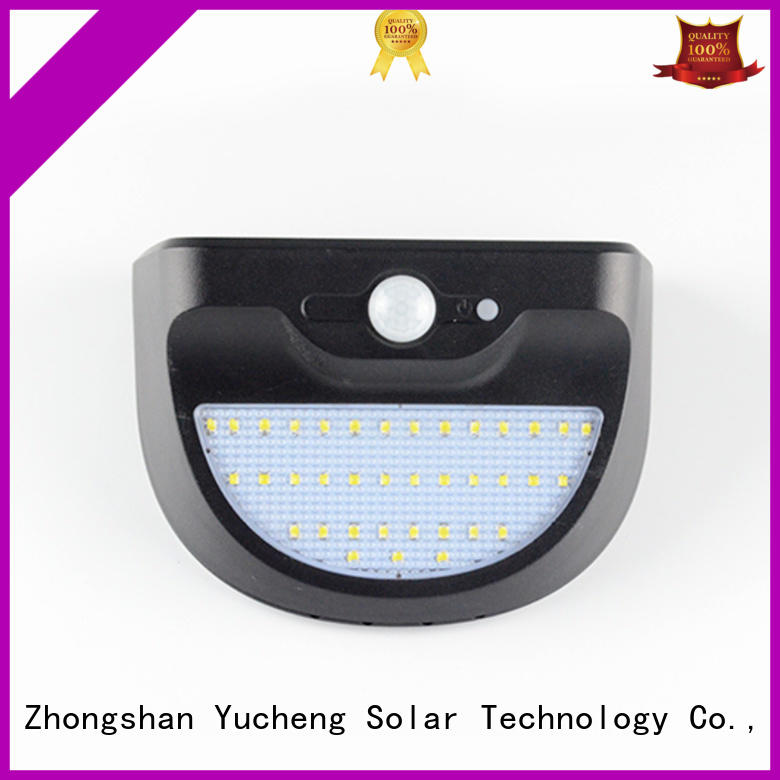 Yucheng Brand ultra sensor detector solar powered sensor light manufacture