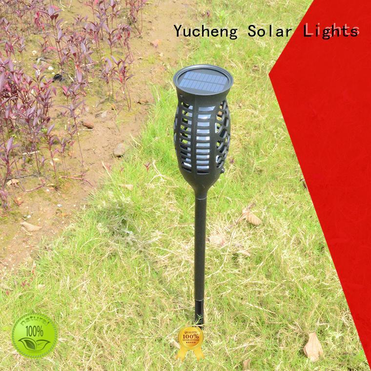 Yucheng vase shape solar powered flame lights series for park