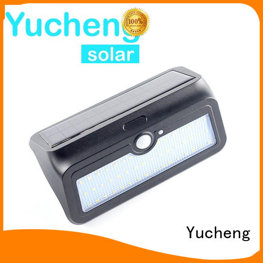 outside solar wall lights with motion sensor thin pole Bulk Buy semicircular Yucheng