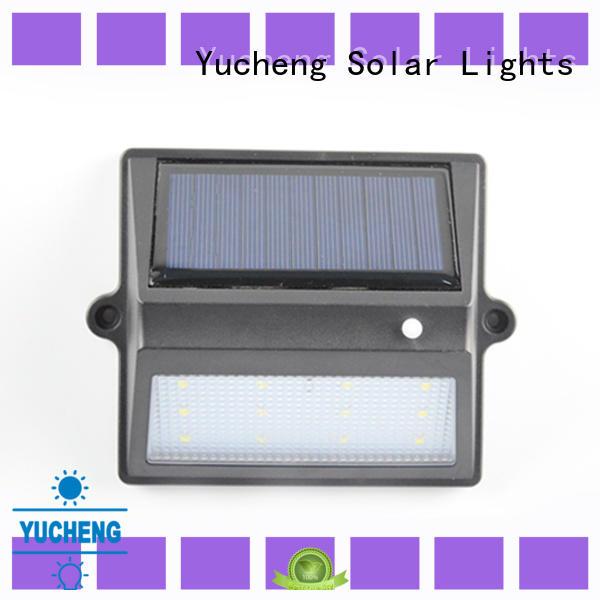 Yucheng solar garden fence lights manufacturer for park