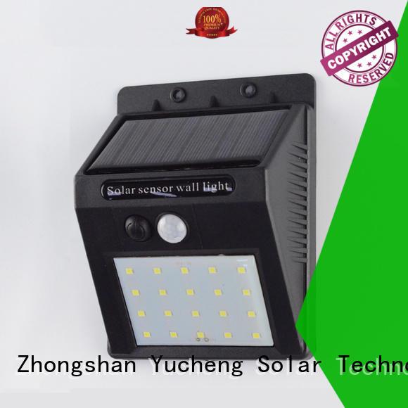 Yucheng stylish led sensor wall light for garden