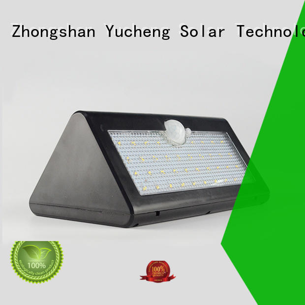 square solar wall mounted motion sensor light factory direct supply for docks